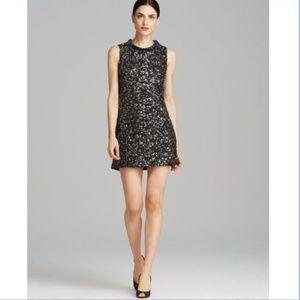 Rachel Zoe Cyrus Leather Sequin Metallic Dress 2